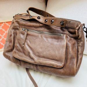J. Crew Laramie Washed Leather Satchel Bag